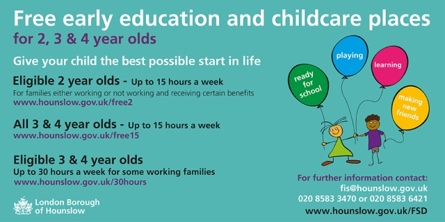 Free early education and childcare places